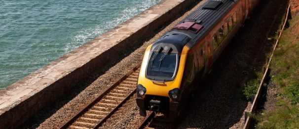 Coastal rail lines are seen as ideal users of this new rail coating for enhanced corrosion protection. Photo courtesy of British Steel.