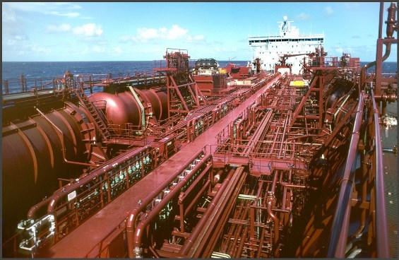 Piping on the main deck of chemical tankers can be complex. Photo courtesy of Stolt Tankers.