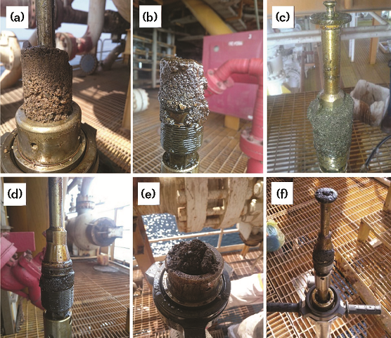 FIGURE 2 Accumulated sediments taken during coupon replacement, regardless of coupon type and coupon holder length.