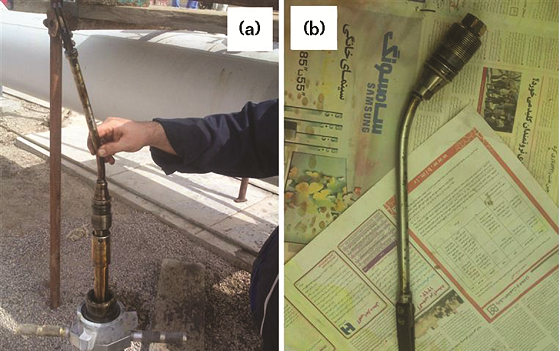 FIGURE 3 The damaged corrosion coupon that was retrieved successfully from a 22-in (55.88-cm) crude oil pipeline.