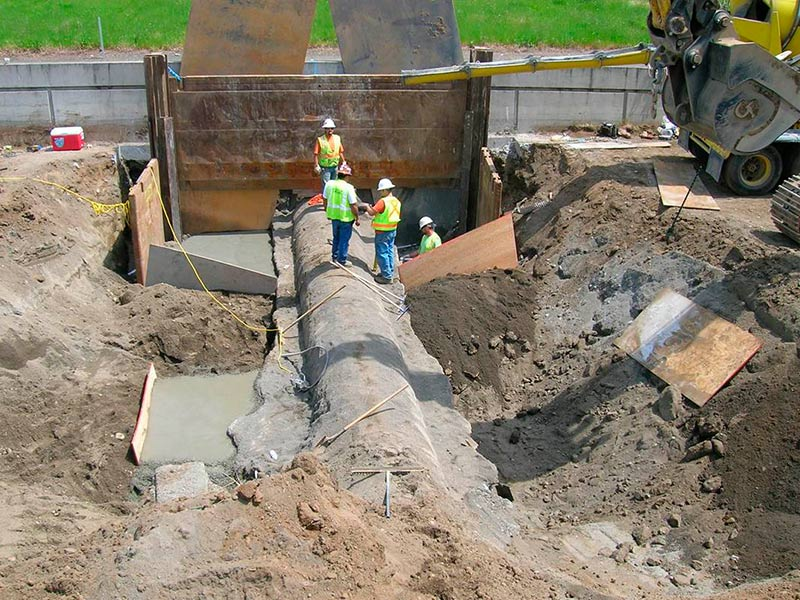 Cathodic protection for water mains in a high consequence for Water main pipe material