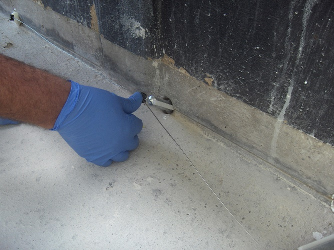 A hybrid anode installation typically inserts anodes into 30-mm diameter holes, usually spaced every ~400 mm, and connects them with titanium connector wires. Repair mortar then completely covers the hybrid system components. Photo courtesy of ACA.
