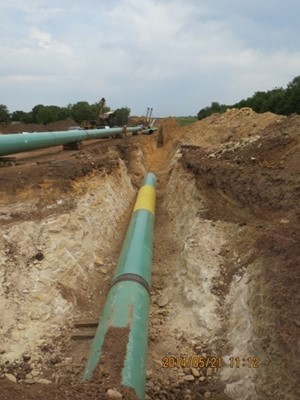Fusion-bonded epoxy coatings are often used on pipelines.